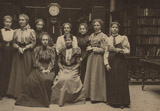Reference Library staff, c.1895.